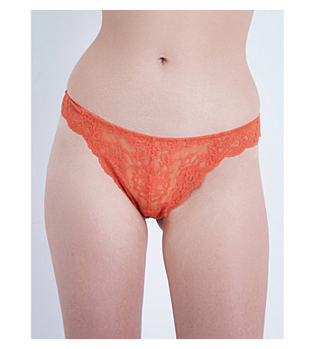 ELLE MACPHERSON BODY Zest lace thong (Ginger