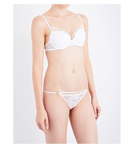 ELLE MACPHERSON BODY Demi underwired lace bra (Bright+white