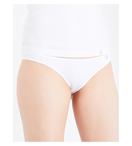 LES GIRLS LES BOYS Logo-waistband stretch-cotton briefs (White