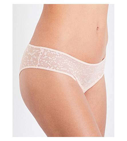 LES GIRLS LES BOYS Snake mesh mini briefs (Dust+pink