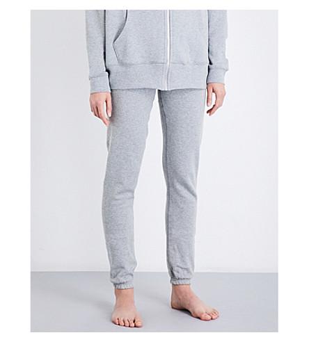 LES GIRLS LES BOYS Mini Logo slim-fit cotton-jersey jogging bottoms (Grey+marl
