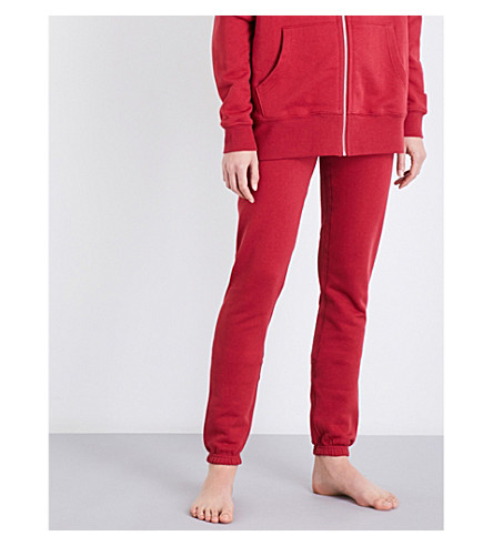 LES GIRLS LES BOYS Mini Logo slim-fit cotton-jersey jogging bottoms (College+red