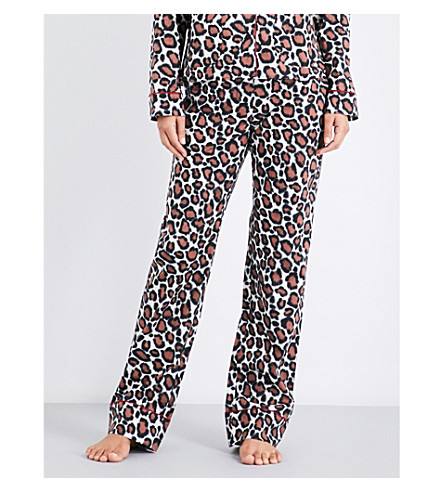 LES GIRLS LES BOYS Leopard-pattern cotton pyjama trousers (Leopard
