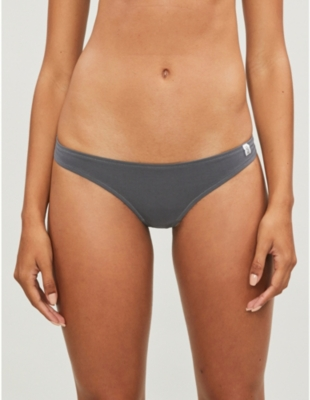 Cool low-rise stretch-cotton thong