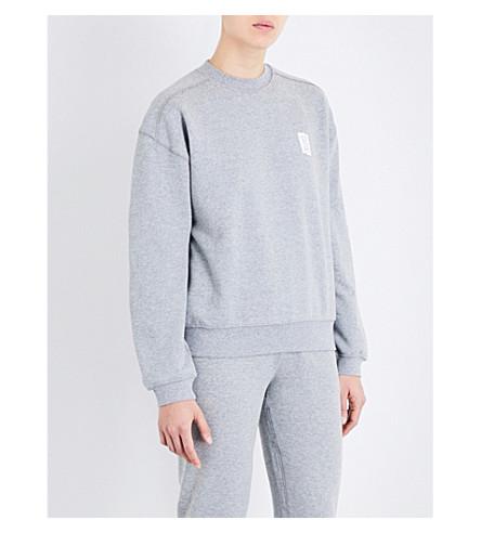LES GIRLS LES BOYS Mini Logo stretch-cotton sweatshirt (Grey+marl