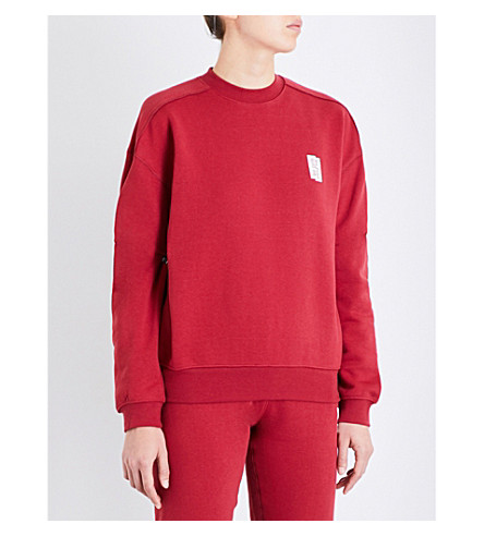 LES GIRLS LES BOYS Mini Logo stretch-cotton sweatshirt (College+red