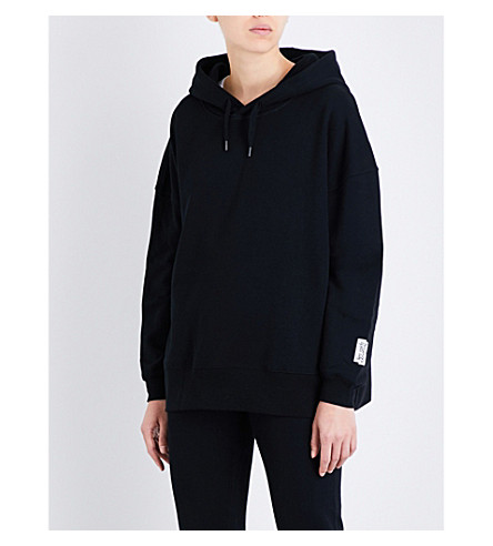 LES GIRLS LES BOYS Mini Logo oversized stretch-cotton hoody (Black