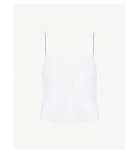 LES GIRLS LES BOYS Lace-trimmed cotton pyjama top (White