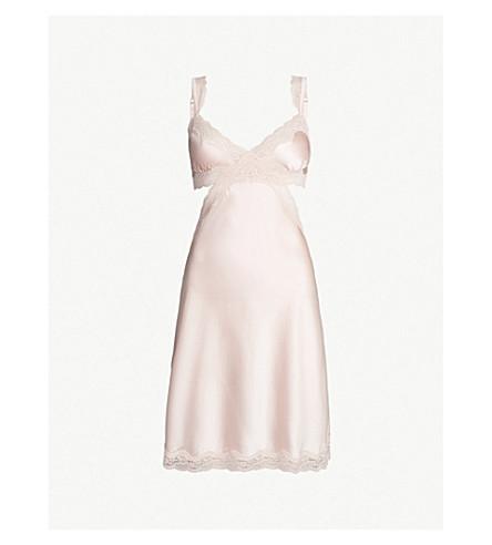 STELLA MCCARTNEY Clara Whispering silk-satin chemise (Pale rose