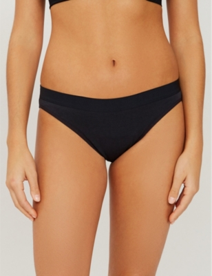 Mid-rise organic cotton bikini briefs