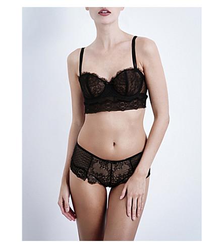 PASSIONATA Blossom lace bustier bra (Black