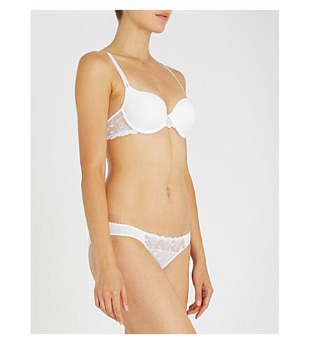 PASSIONATA 白色夜平纹针织面料带钢圈 T 恤胸罩 (闪光 + 白色
