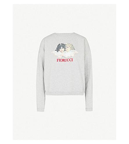 FIORUCCI Vintage Angels cotton-jersey sweatshirt (Grey