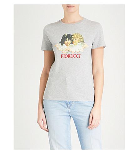 FIORUCCI Vintage Angels cotton-jersey T-shirt (Grey