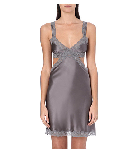 STELLA MCCARTNEY Clara Whispering stretch-silk chemise (Mercury