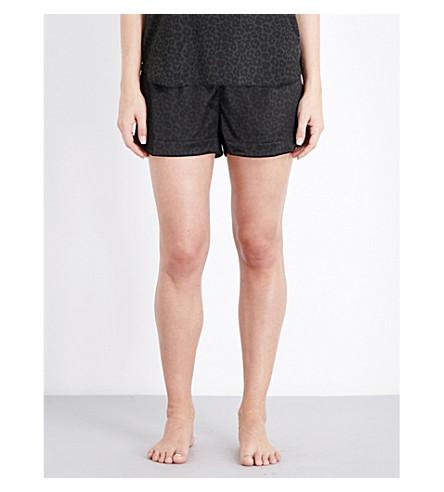STELLA MCCARTNEY Ellie Leaping pyjama shorts (Duffel+green+leop+print
