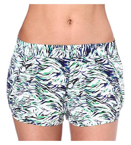 STELLA MCCARTNEY Solange leaning shorts (Green/black