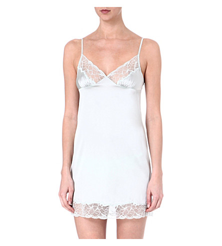 STELLA MCCARTNEY Selma Dancing silk chemise (Mist
