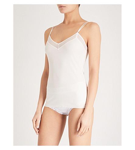 S BY SLOGGI Silhouette V-neck stretch-jersey cami top (Angora