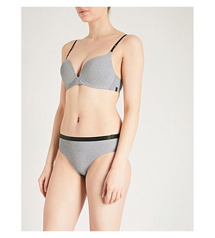 S BY SLOGGI宁静弹力平纹针织软垫胸罩 (灰色组合
