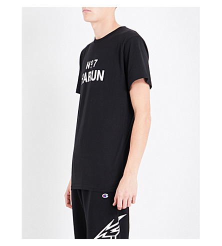 HARUN AWGE Bodega No7 cotton-jersey T-shirt (Black