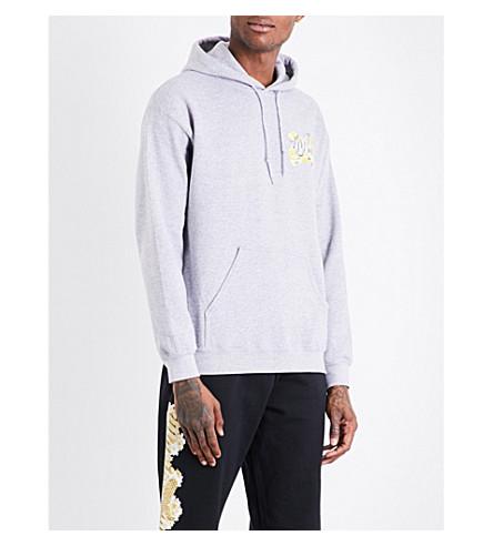 MARINO INFANTRY AWGE Bodega floral logo-print cotton-jersey hoody (Grey