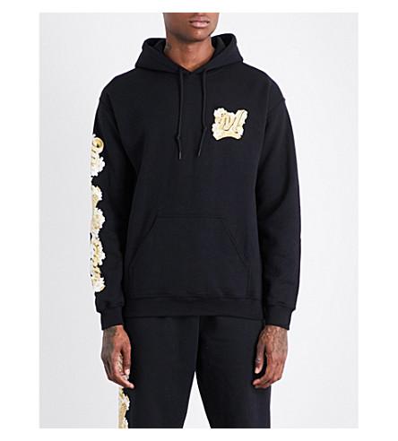 MARINO INFANTRY AWGE Bodega floral logo-print cotton-jersey hoody (Black