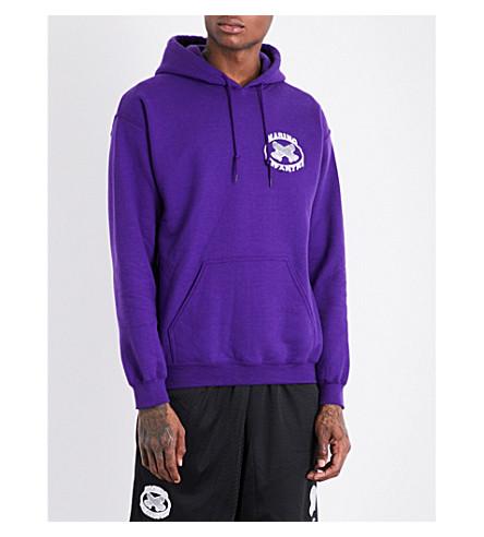 MARINO INFANTRY AWGE Bodega logo-print cotton-jersey hoody (Purple