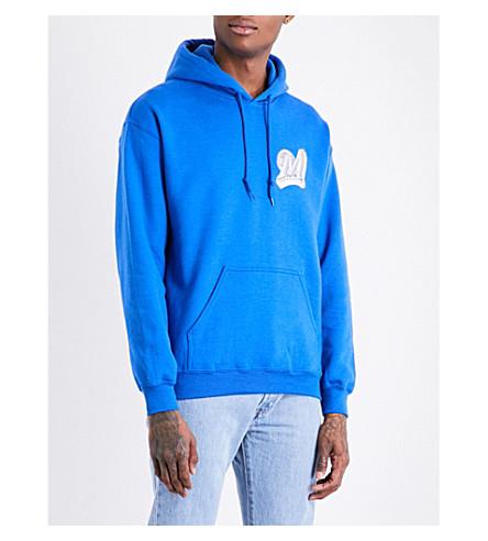 MARINO INFANTRY AWGE Bodega logo-print cotton-jersey hoody (Blue