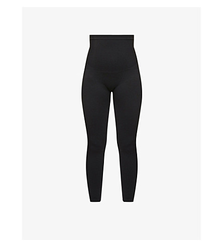 SPANX Look At Me high-waist stretch-jersey leggings (Very black