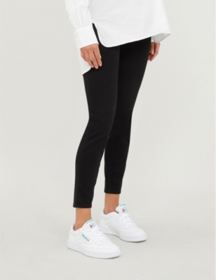 Mama Ankle Jean-ish high-rise stretch-jersey maternity leggings