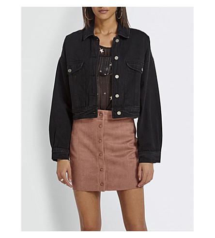 MISSGUIDED Cropped denim jacket (Black