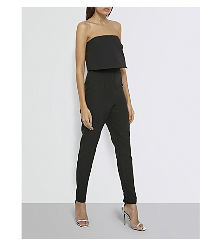 MISSGUIDED Strapless crepe jumpsuit (Black