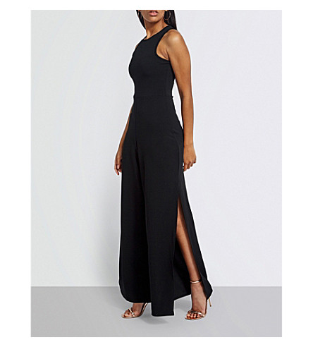 MISSGUIDED Side-split crepe jumpsuit (Black