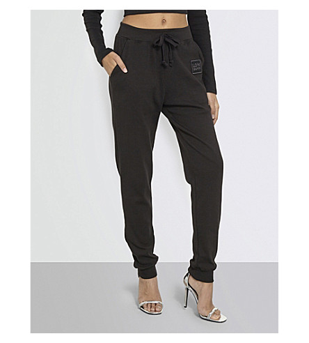 MISSGUIDED Missguided x Londunn tapered stretch-jersey jogging bottoms (Black