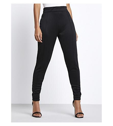 MISSGUIDED Missguided x Londunn jersey jogging bottoms (Black