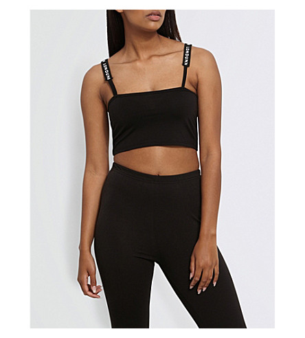 MISSGUIDED Missguided x Londunn square jersey bralet (Black