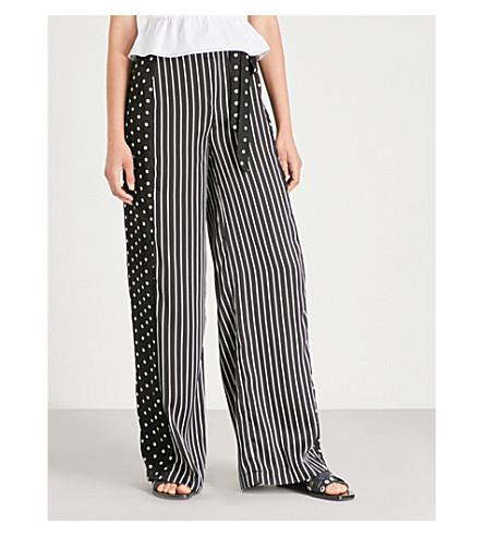 MISSGUIDED 圆点条纹绉裤 (黑色