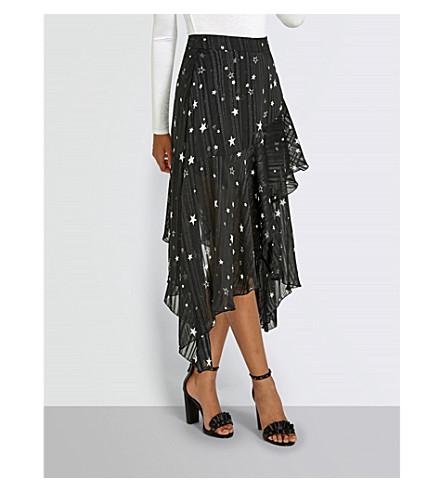 MISSGUIDED Star-print woven skirt (Black
