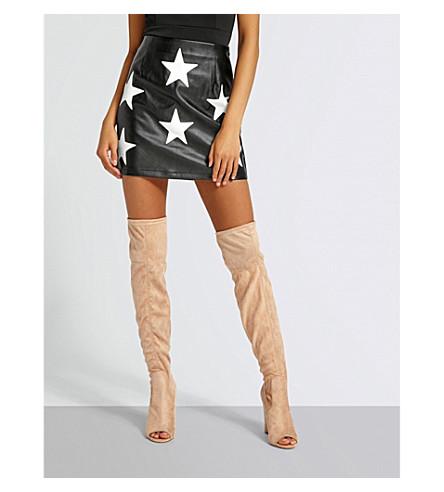MISSGUIDED Star print mini skirt (Black