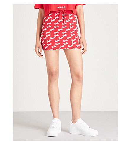 MISSGUIDED Missguided x Barbie jersey skirt (Red