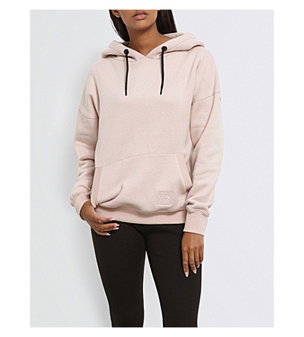 MISSGUIDED Missguided x Londunn oversized jersey hoody (Pink