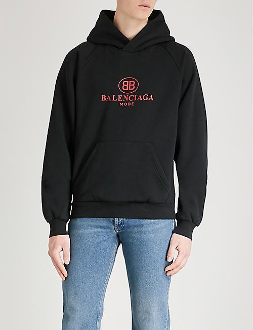 BALENCIAGA Logo-print cotton-blend hoody
