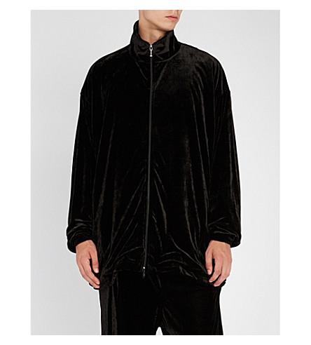 BALENCIAGA Oversized velour jacket (Black