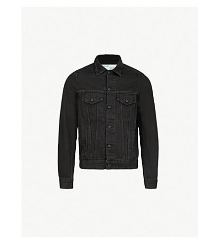 OFF-WHITE X BYREDO Logo-patch denim jacket (Black denim