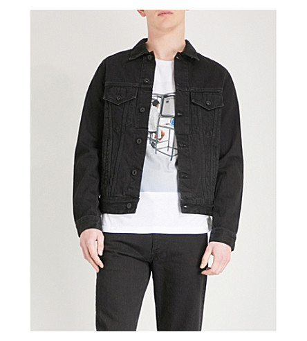 OFF-WHITE X BYREDO Logo-patch denim jacket (Black denim