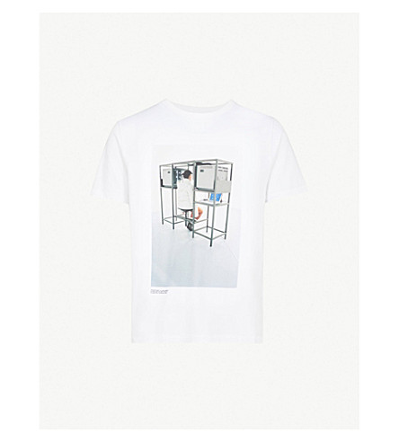 OFF-WHITE X BYREDO Elevator Music cotton-jersey T-shirt (White