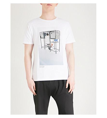 OFF-WHITE X BYREDO Elevator Music cotton-jersey T-shirt (White