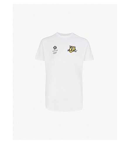 THE ROLLING STONES Team GB cotton-jersey top (White