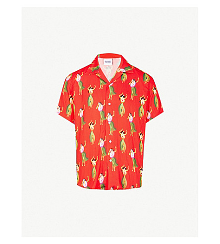 807a2303a SSS WORLD CORP The Rolling Stones x SSS World Corp dead girls-print  casual-fit woven shirt